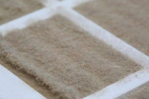 Dirty AC air Filter for Air Quality