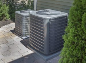 Residential AC units in the Backyard