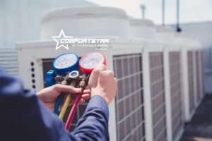 Commercial HVAC care by Comfort Star AC technician