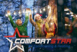 Winter, warm house, furnace works - Celebrating Christmas