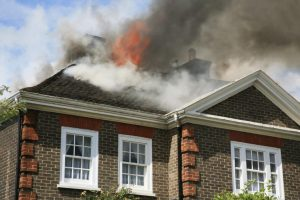 House roof on fire due to HVAC malfunction